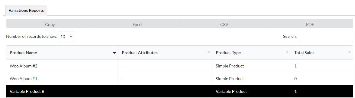 Reports Export Options